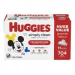 704-Count Huggies Simply Clean Fragrance-free Baby Wipes