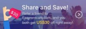 $30 Car Rental Coupon At Referral @EasyRentCars