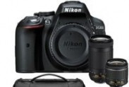 Nikon D5300 24.2 MP DSLR Camera w/ AF-P 18-55mm VR & 70-300mm Dual Lens & Case Bundle